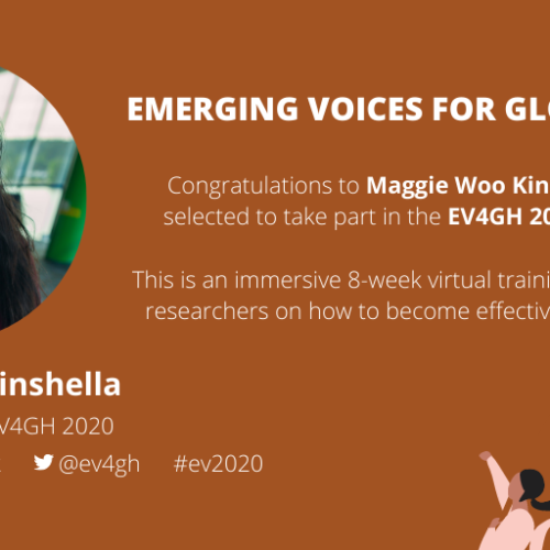 Maggie Woo Kinshella selected for Emerging Voices for Global Health 2020 Cohort